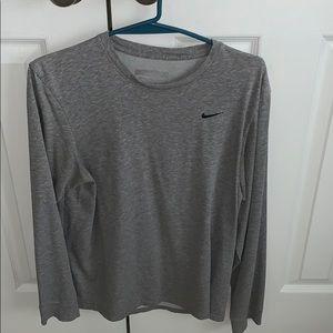 Men's Gray Nike Long Sleeve Tee (S)